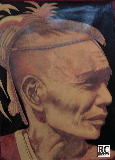 小清新可爱人头纹身