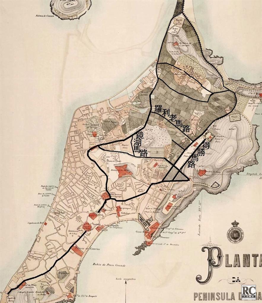 19世紀80年代澳門主要道路網 (10)